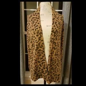 H&M Classic Animal Print Cardigan Sweater Medium M